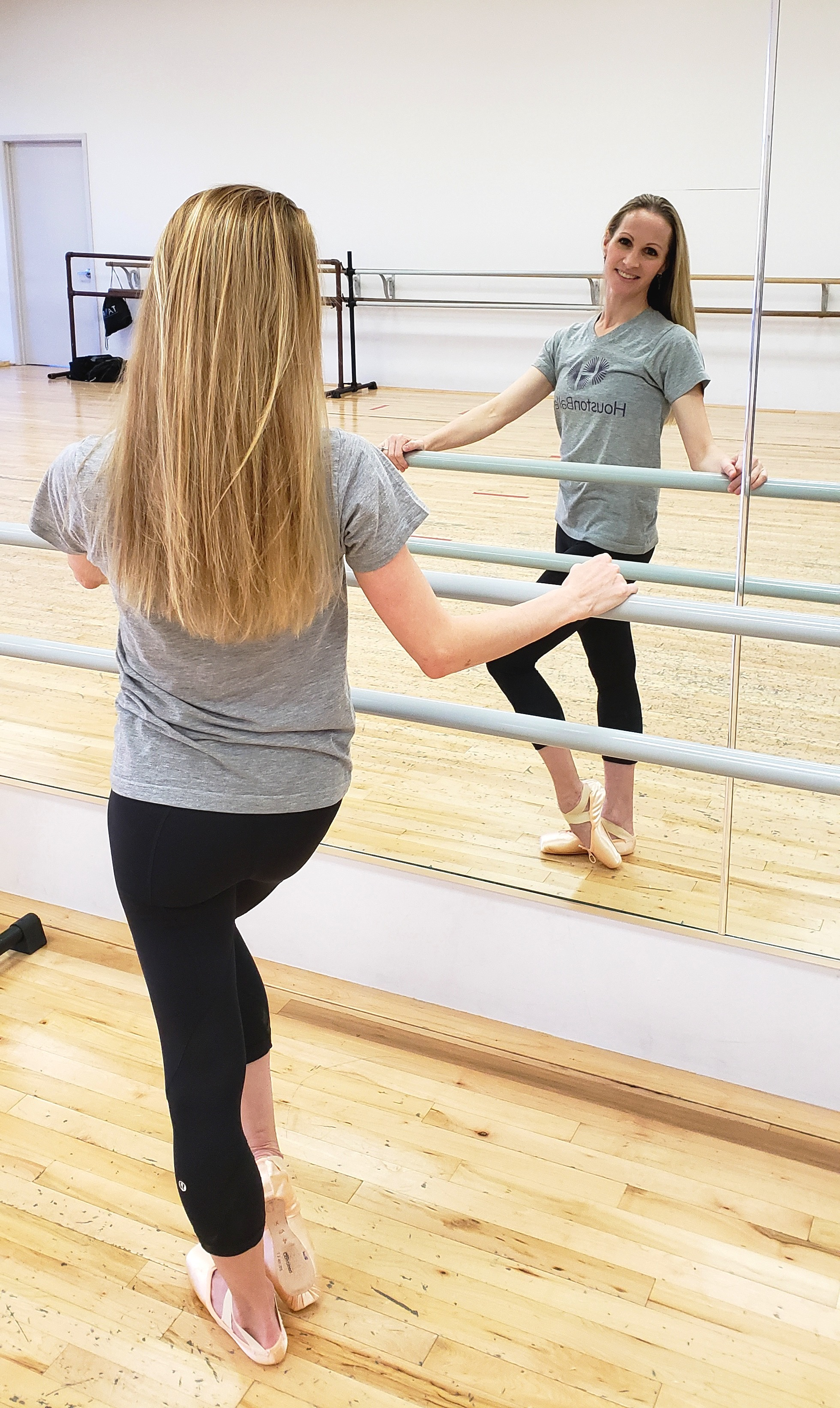 Sara Webb Bardo - in one of the studios where she teaches ballet.