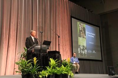 Elder Bradley D. Foster of the Seventy speaks at RootsTech 2013.