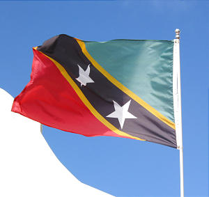 St. Kitts flag. Photo by Greg Hill.
