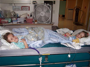 While recovering from separation surgery, formerly conjoined twins Maliyah and Kendra Herrin share a bed. In the time since the landmark surgery, the girls have argued over a book, shared toys and acted as typical 4-year-olds.