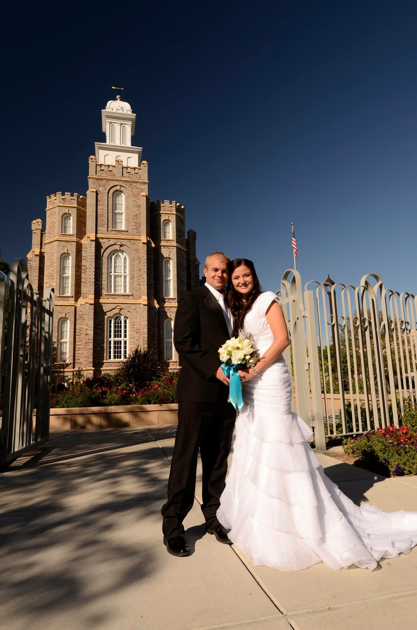 A.J. and Sarah Edwards were married in the Logan Utah Temple seven years ago.