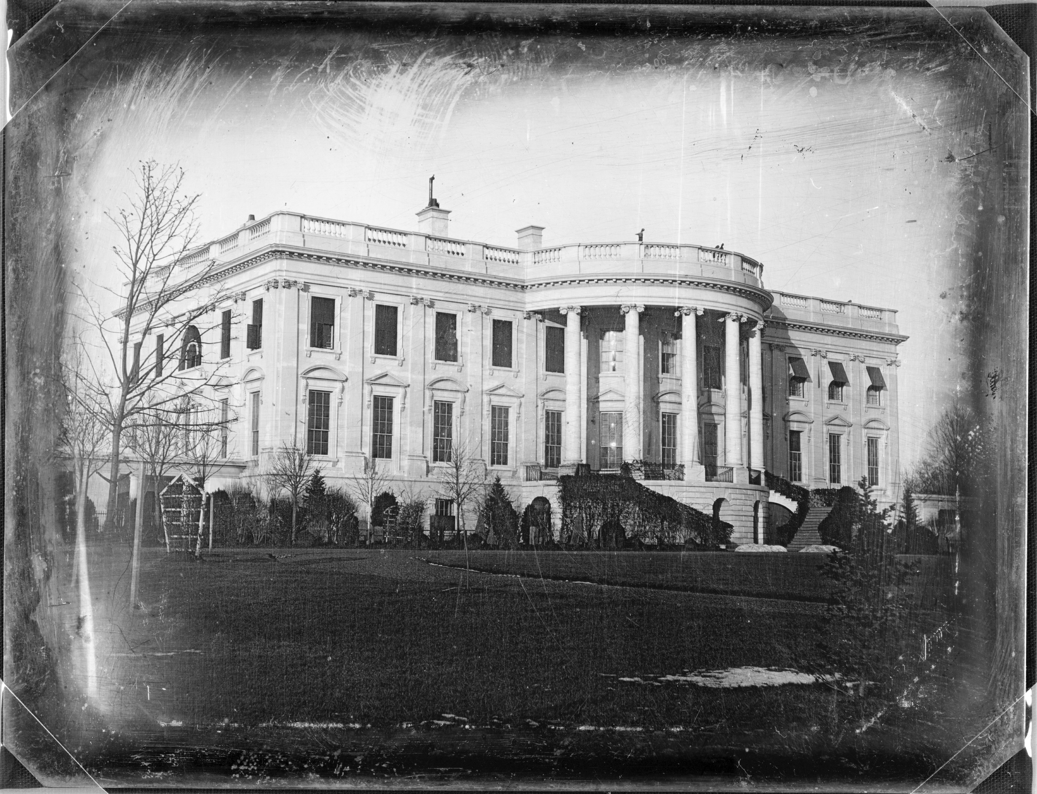 White House as seen in 1846 photo, about seven years after Joseph Smith visited U.S. President Martin Van Buren there.