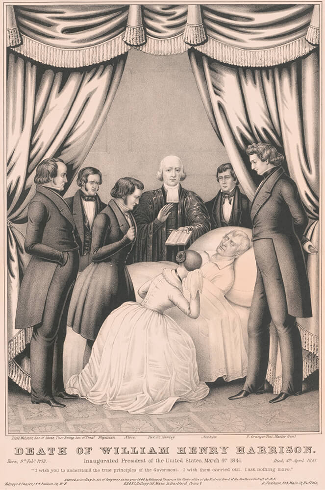 Members of The Church of Jesus Christ of Latter-day Saints mourned the 1841 death of President William Henry Harrison, ninth president of the United States.