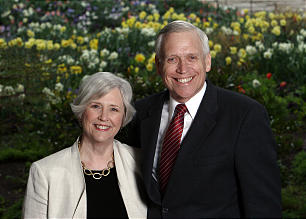 Sister Neill F. Marriott, second counselor in the Young Women general presidency, and her husband, David C. Marriott.
