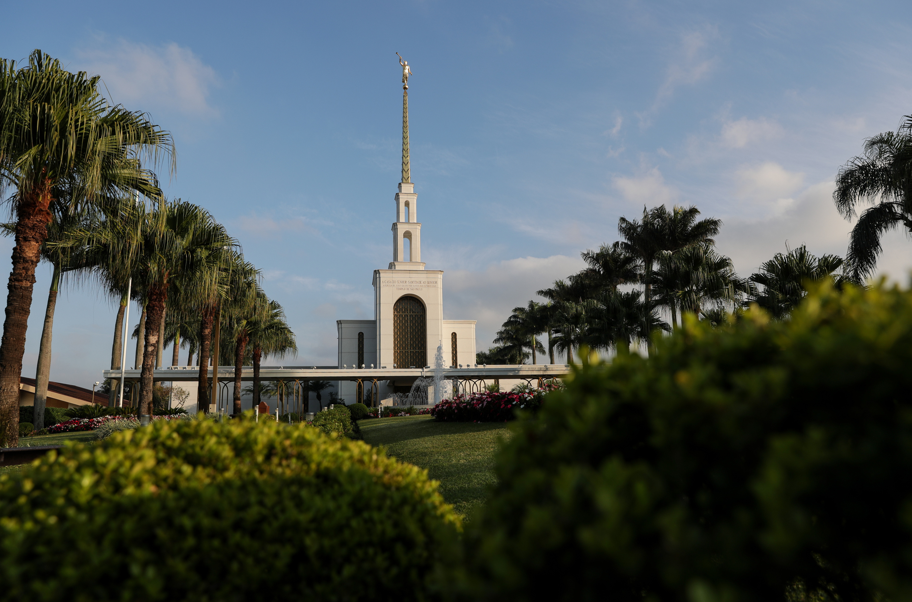 The LDS Church's São Paulo Temple in São Paulo, Brazil is seen early in the morning on Thursday, May 24, 2018.