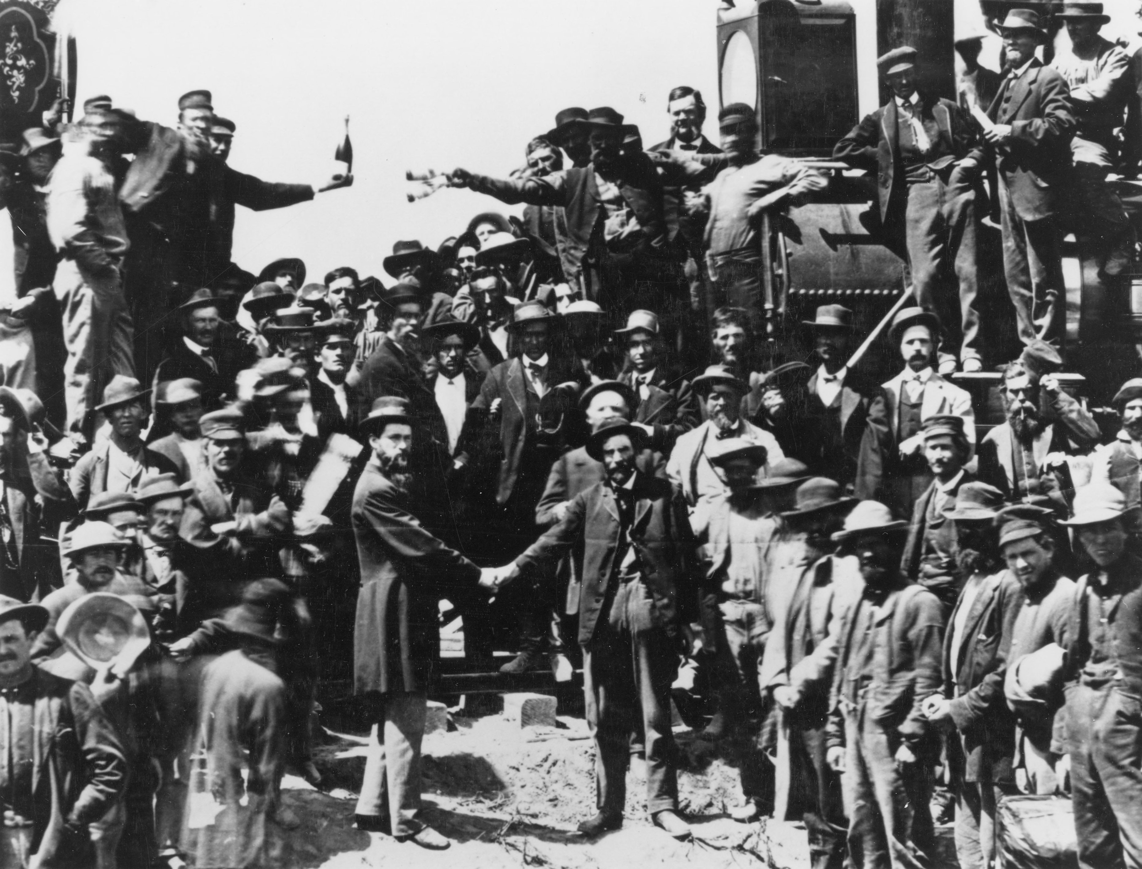 The wedding of the rails took place at Promontory, Utah, on May 10, 1869.