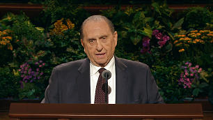 President Thomas S. Monson, shown speaking during the April 2013 general conference, turned 86 on Aug. 21.