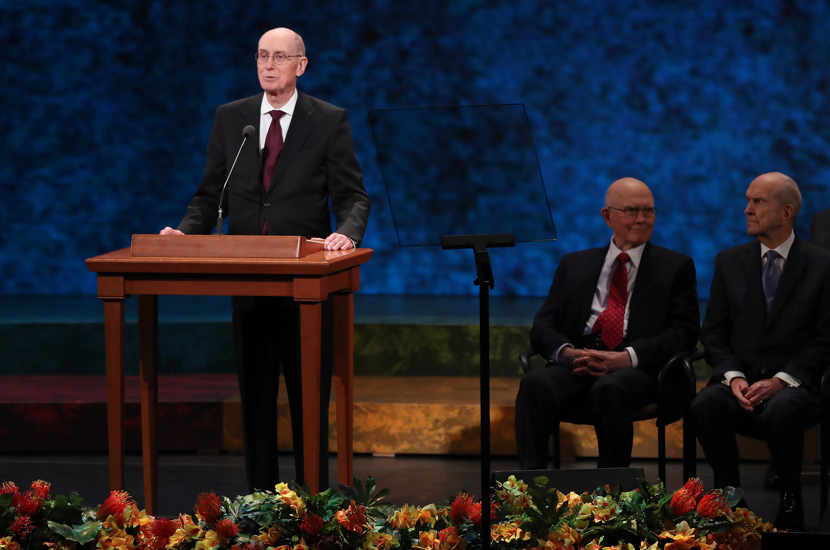 "President Henry B. Eyring, second counselor in the First Presidency of The Church of Jesus Christ of Latter-day Saints, speaks during ""Be One"" in Salt Lake City on Friday, June 1, 2018. The event celebrates the 40th anniversary of the 1978 revelation on the priesthood."