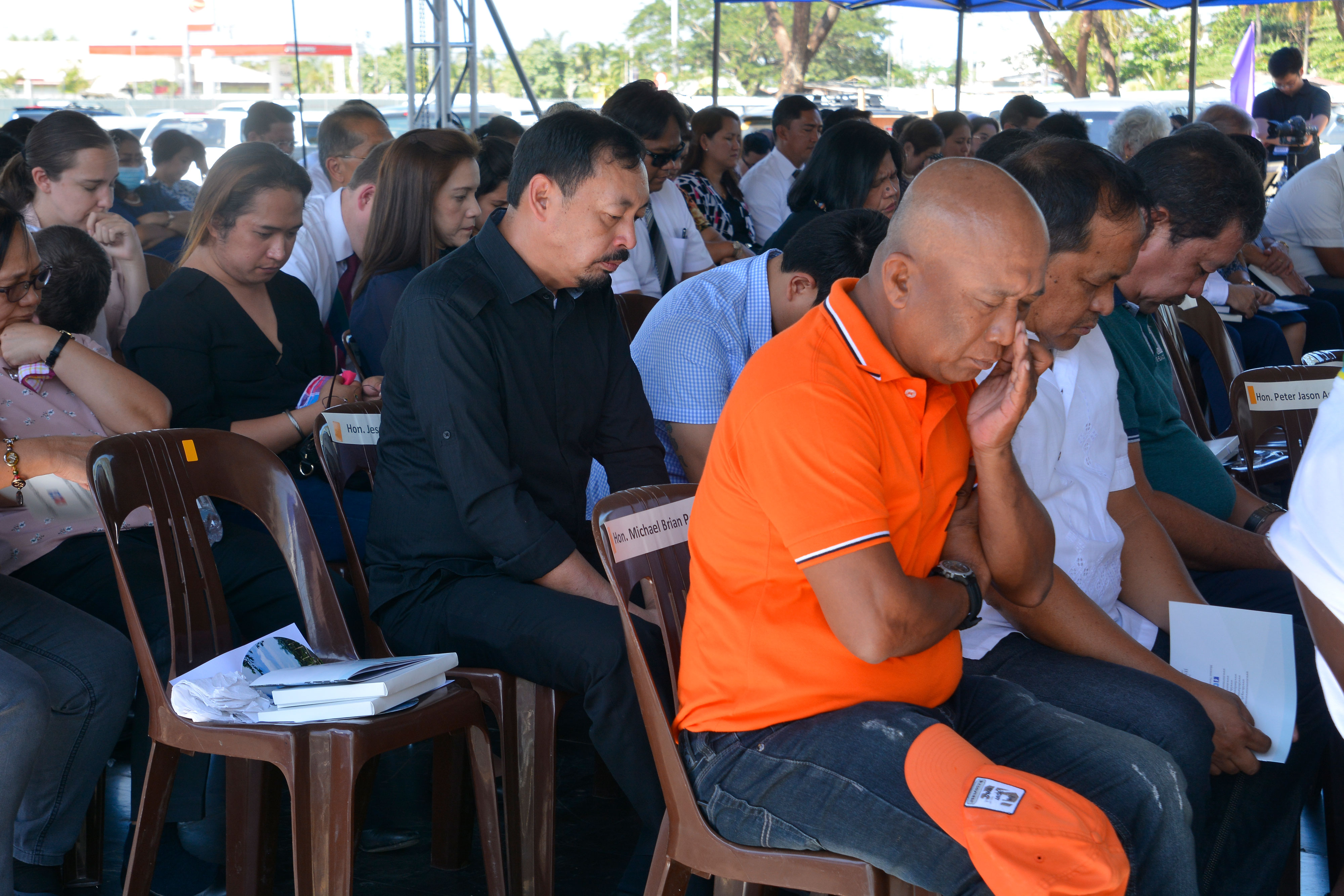 Church members gather at the site of the future Urdaneta Philippines Temple on Jan. 16, 2019. Elder Jeffrey R. Holland of the Quorum of the Twelve Apostles broke ground for the new temple, the third in the Philippines.