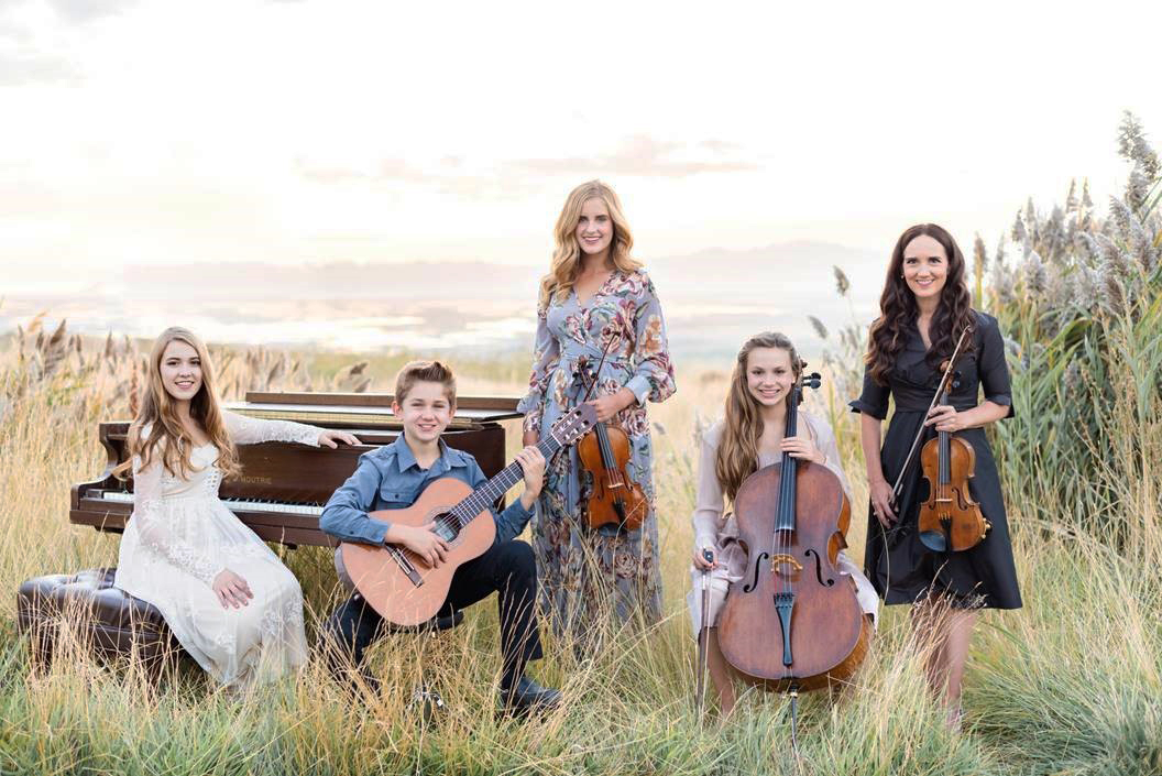 Grammy-nominated violinist Jenny Oaks Baker and her four children — three on string instruments and one on piano — compose Family Four, with performances all over the world to their credit.