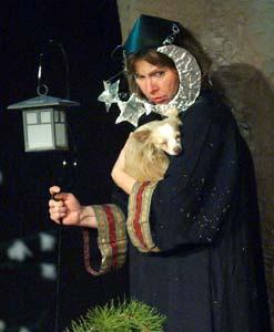 """Ann Hackett as Robin Starveling performs in """"A Midsummer Night's Dream."""""""