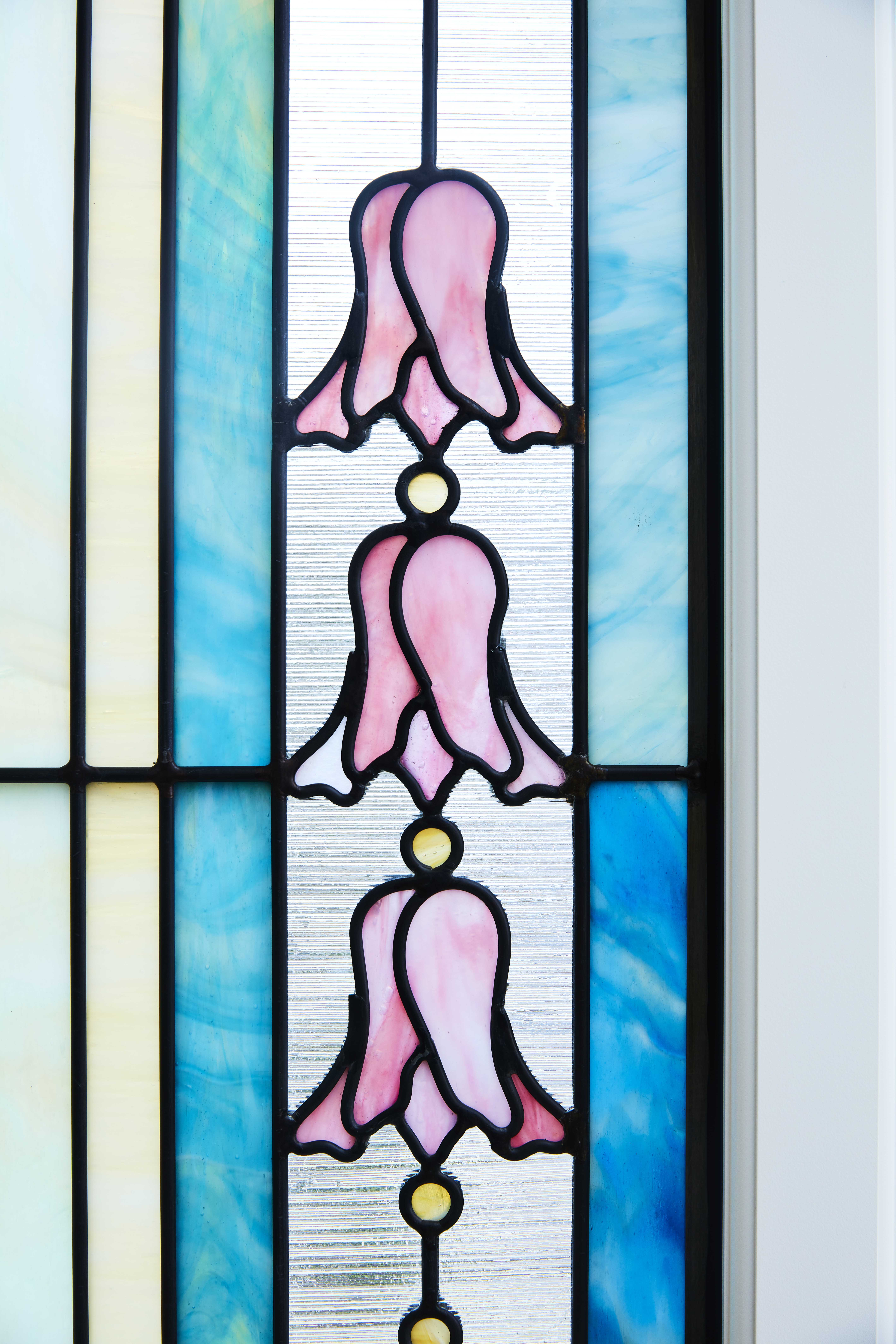 Artisan stained-glass in the Memphis Tennessee Temple.