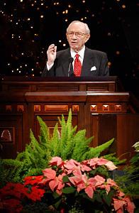 Pres. Hinckley at devotional