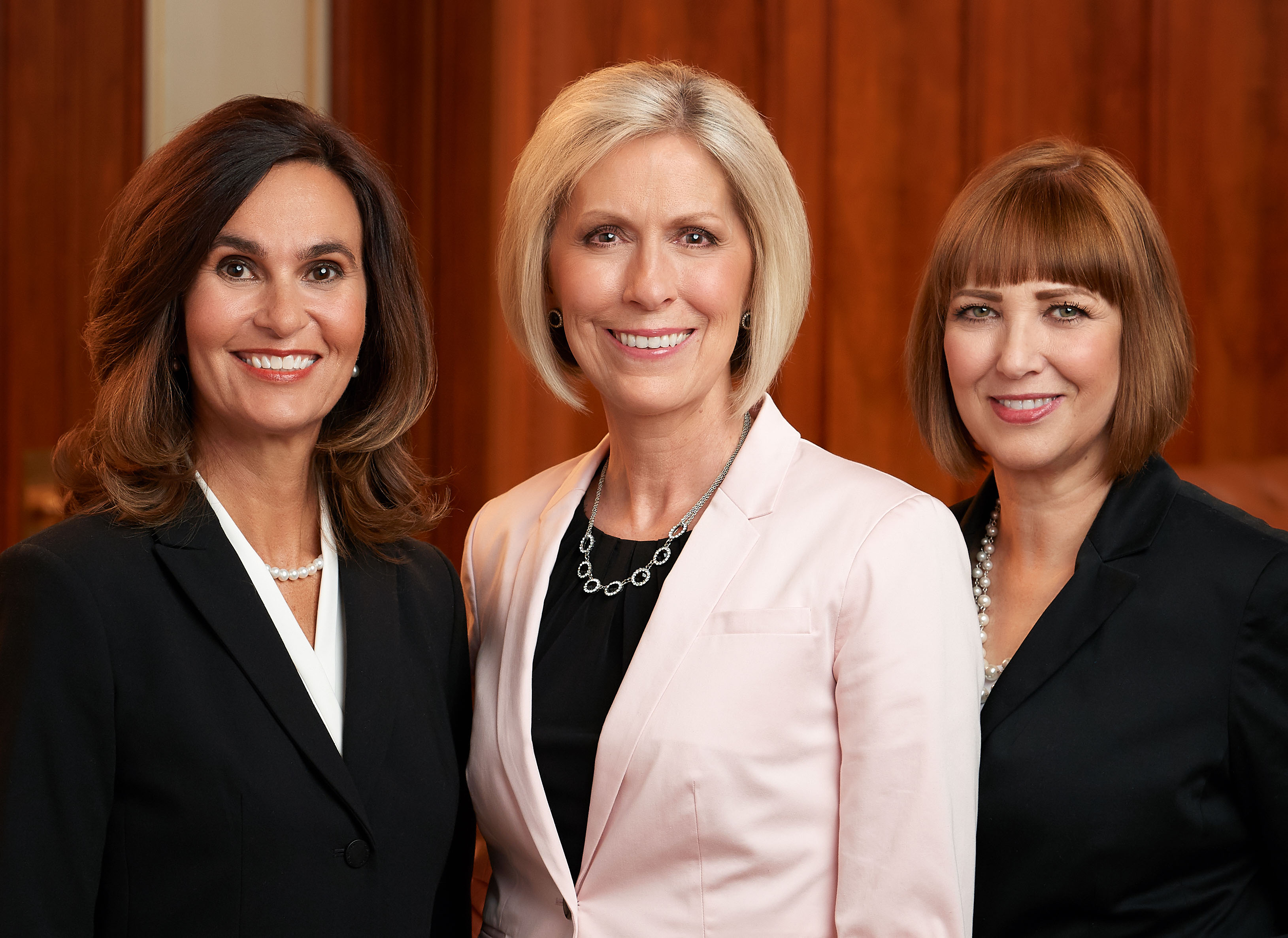 Sister Joy D. Jones, Primary general president, and her counselors, Sister Lisa Harkness, left, and Sister Cristina B. Franco, right.