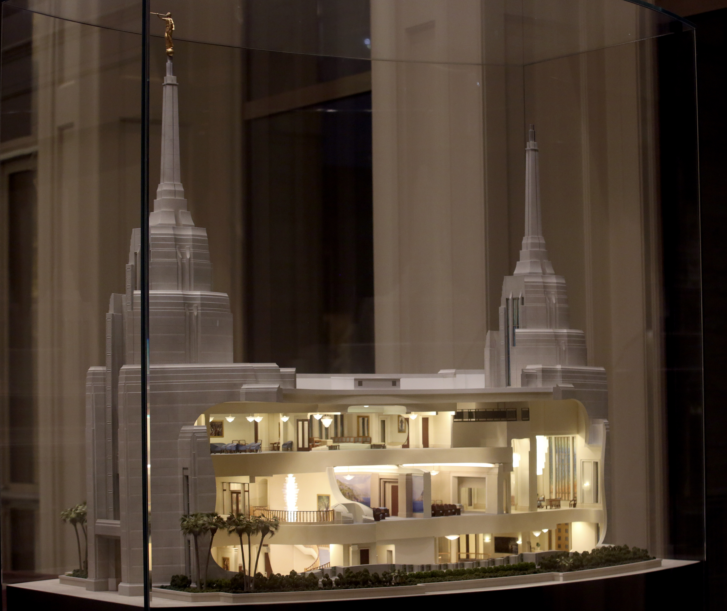 A model sized replication of the Rome Temple is visible in the Visitors' Center in Rome, Italy, on Friday, Nov. 16, 2018.