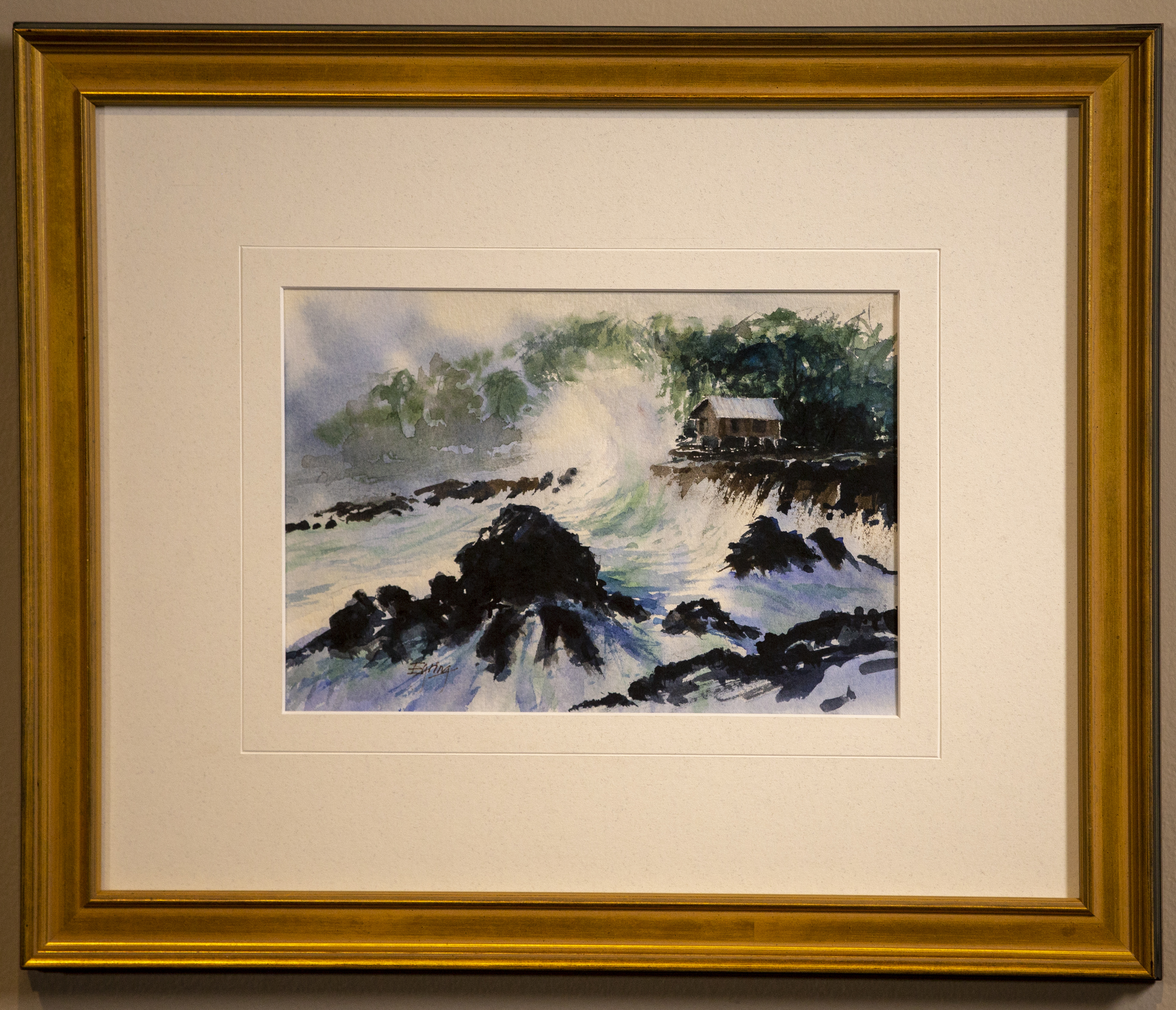 A watercolor painting by President Henry B. Eyring is on display in a special exhibit at the Church History Museum in Salt Lake City.