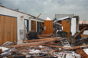 Joplin stake center destruction.