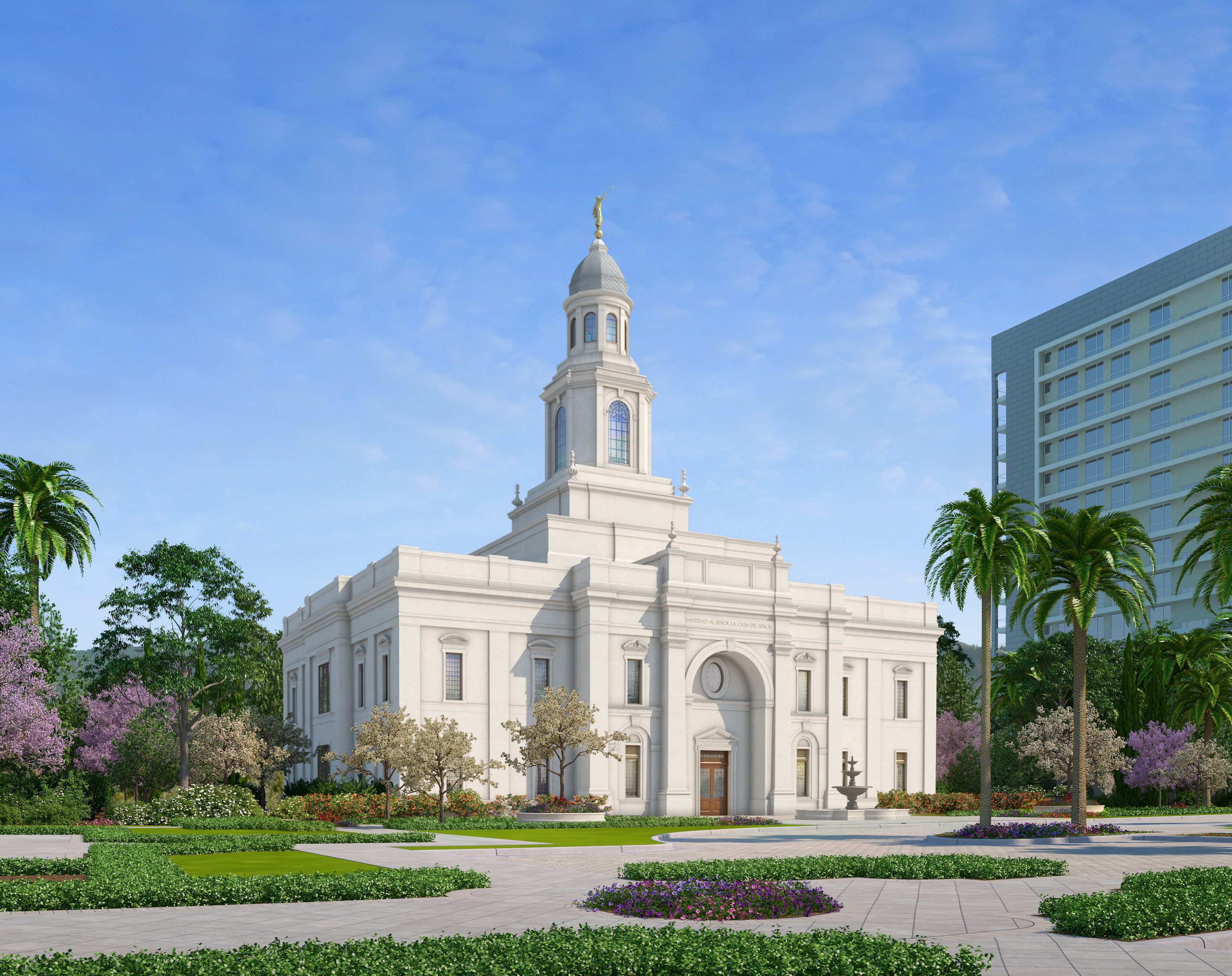Rendering of the Concepción Chile Temple, which will be dedicated on Oct. 28, 2018, by President Russell M. Nelson.