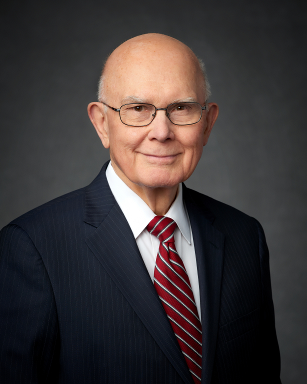 President Dallin H. Oaks, first counselor in the First Presidency, presided at a Feb. 2, 2019, devotional in downtown Chicago for young married couples.