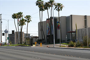 Now a community cultural center, the first stake center constructed in Las Vegas still stands on North Las Vegas Blvd.