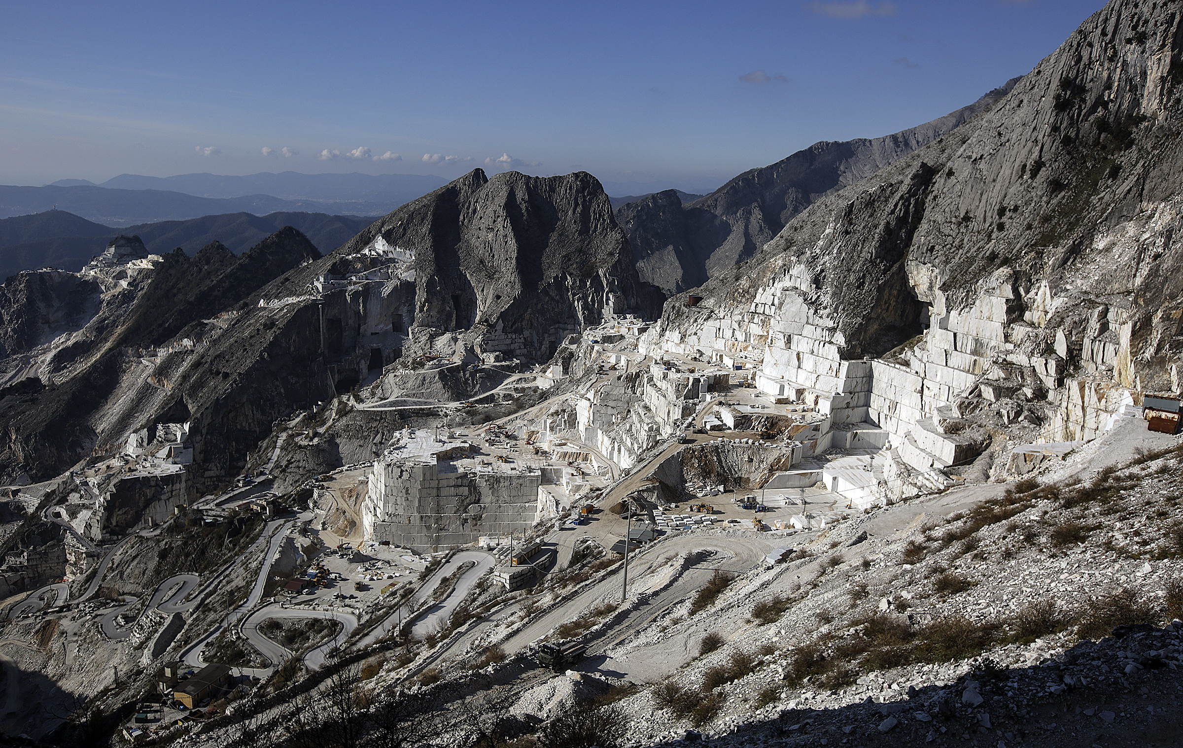 Marble quarry in Carrara, Italy, on Thursday, Nov. 15, 2018.