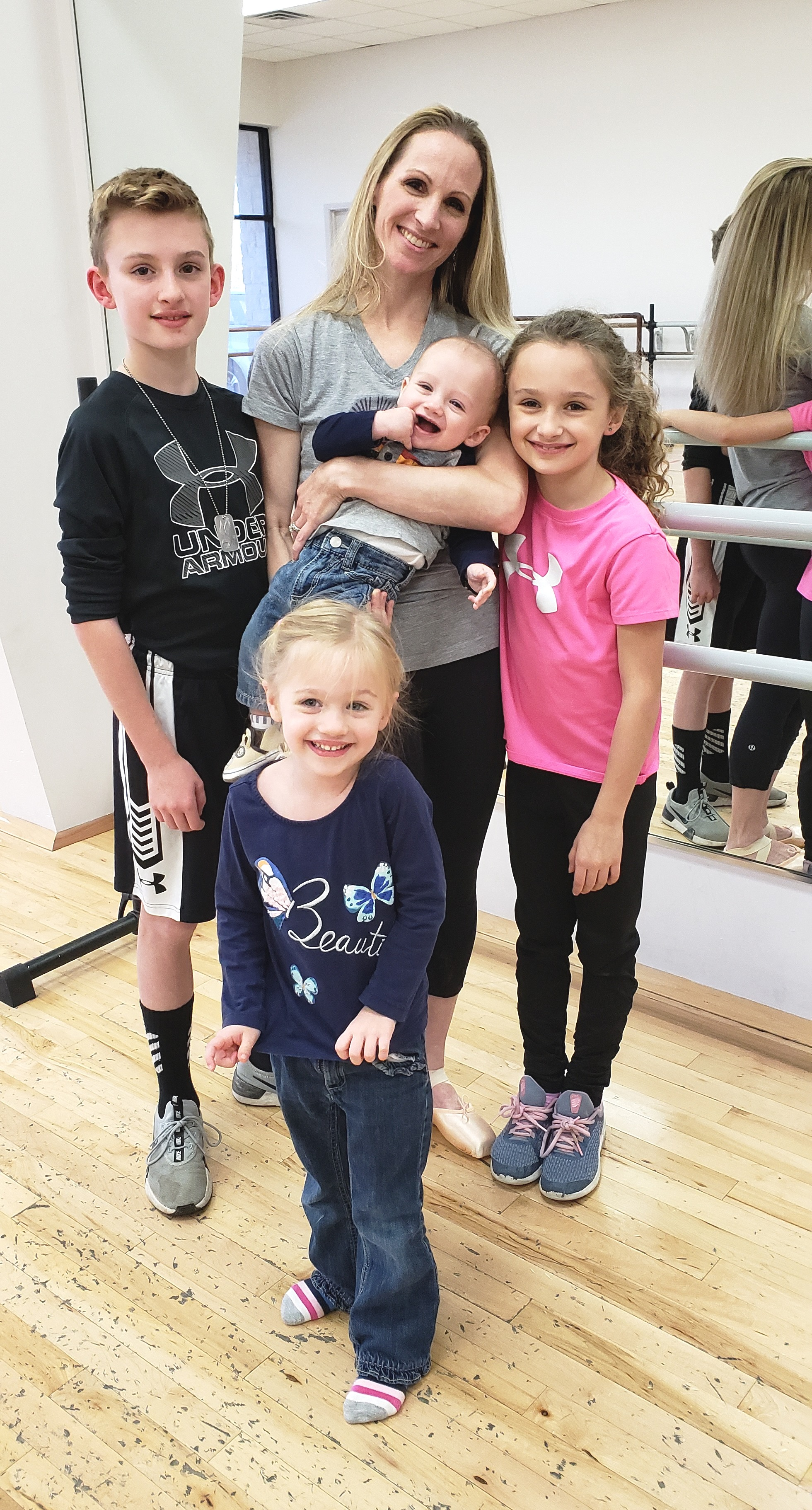 Sara Webb Bardo and her children