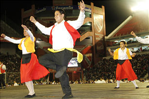 Many of the evening's folk dances commemorated Argentina's rich immigrant history, including a spirited number inspired by the region's Italian heritage.