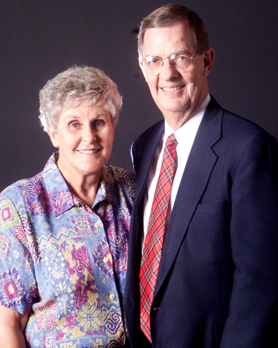 Brother L. Don Lefevre and Sister Bonnie LeFevre at the time of their call to the Laie Hawaii Temple Visitors Center in 2000.