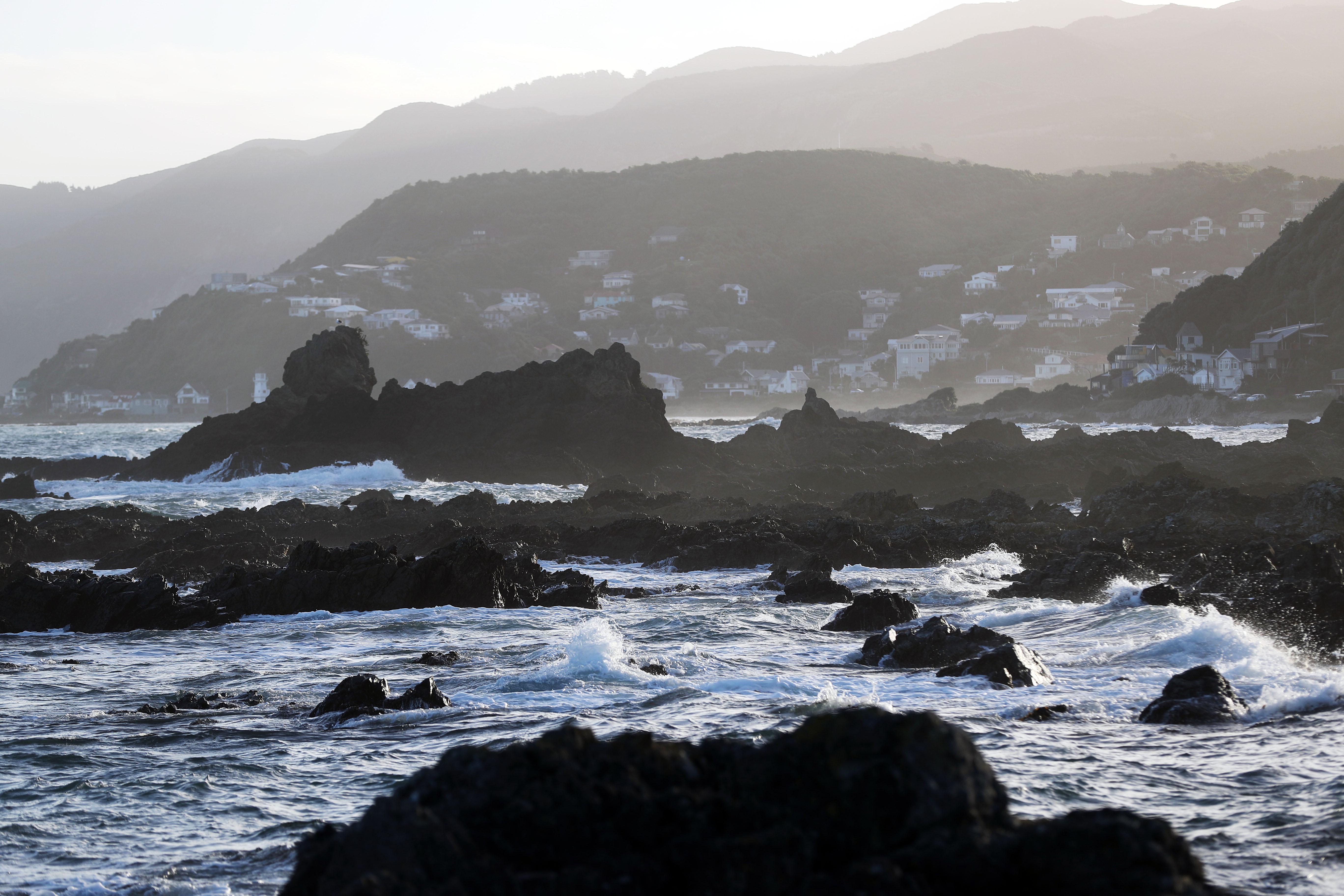 The coast in Wellington, New Zealand, on Sunday, May 19, 2019.