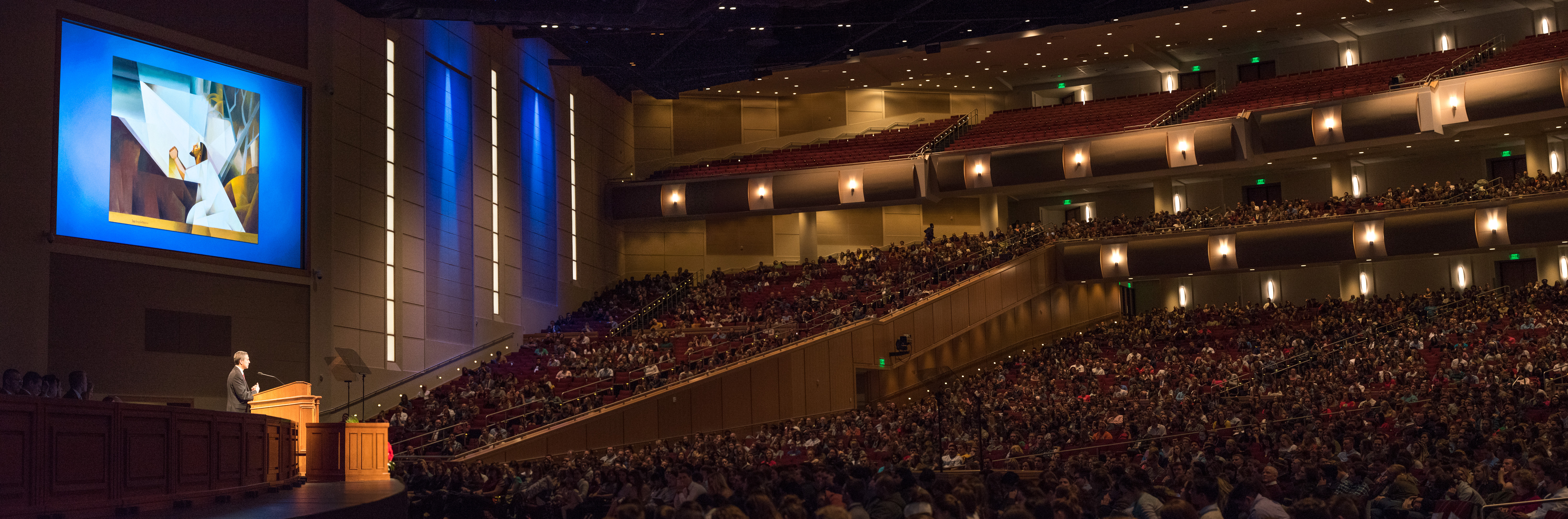 Elder Joaquin E. Costa, a General Authority Seventy of the Church, and his wife, Sister Renee Costa, speak to the students of BYU–Idaho at a devotional on Feb. 26 about the things they wish they had known while in college.
