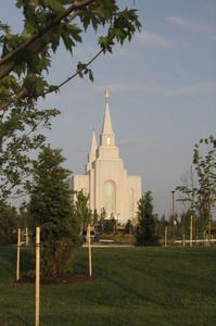 Kansas City Missouri Temple on May 6, the day of dedication.