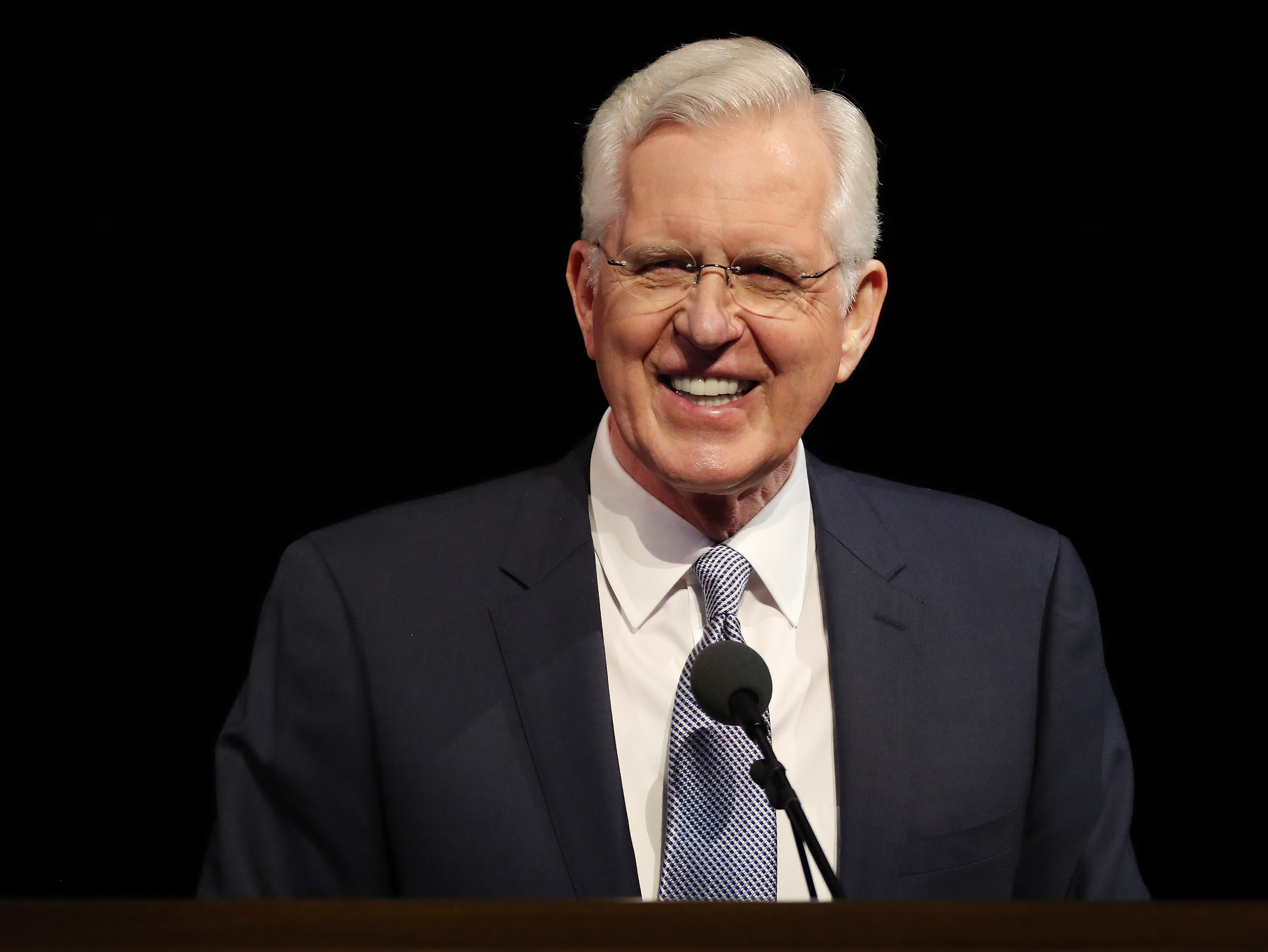 Elder D. Todd Christofferson of the Quorum of the Twelve Apostles for The Church of Jesus Christ of Latter-day Saints speaks during BYU Women's Conference in Provo on Friday, May 3, 2019.