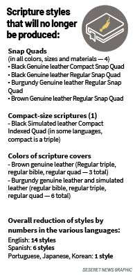 Scripture styles that will no longer be produced: