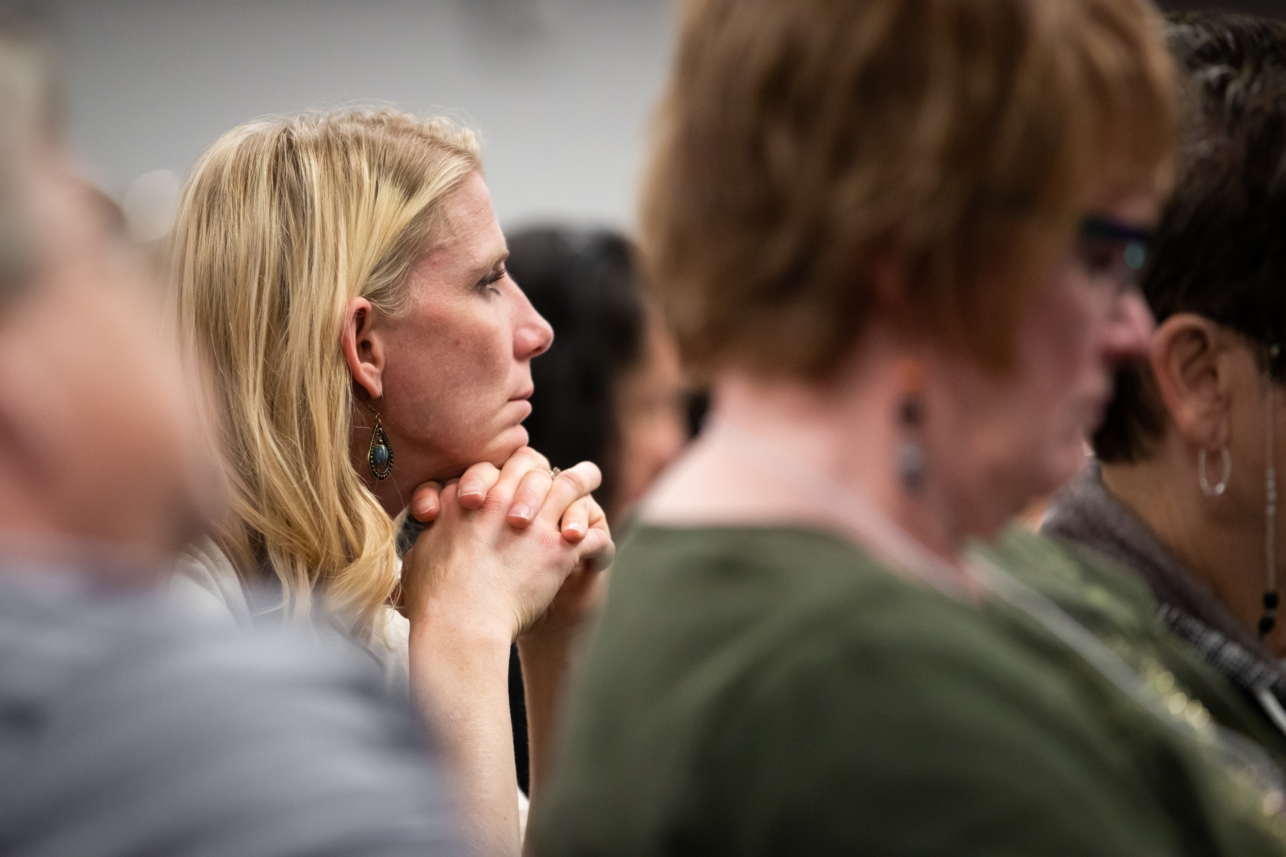 Women listen during a class session during the 2019 Women's Conference on May 2, 2019.