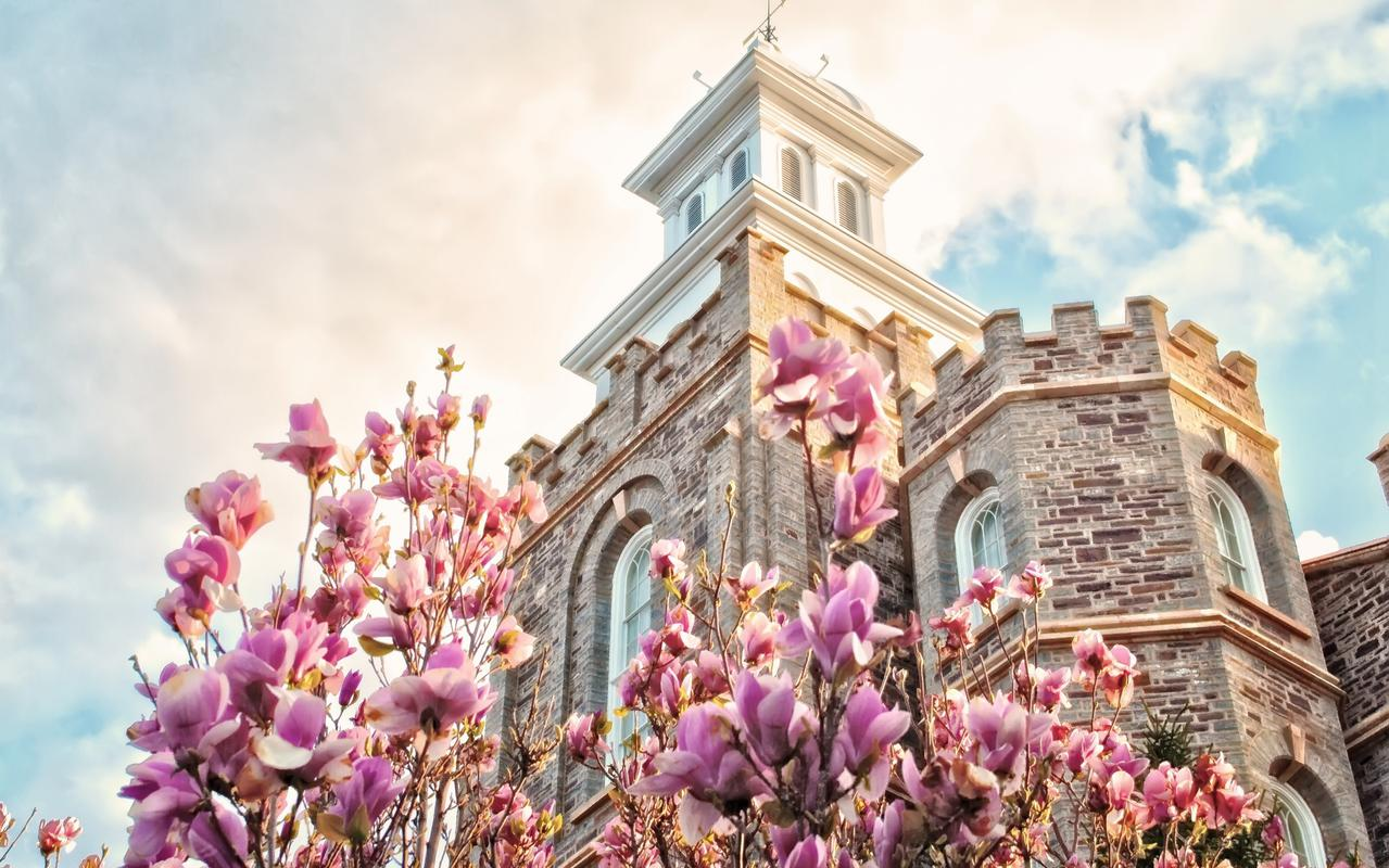 The Logan Utah Temple's brick work was not repainted in the 1900s and the grounds were redone in 2009.