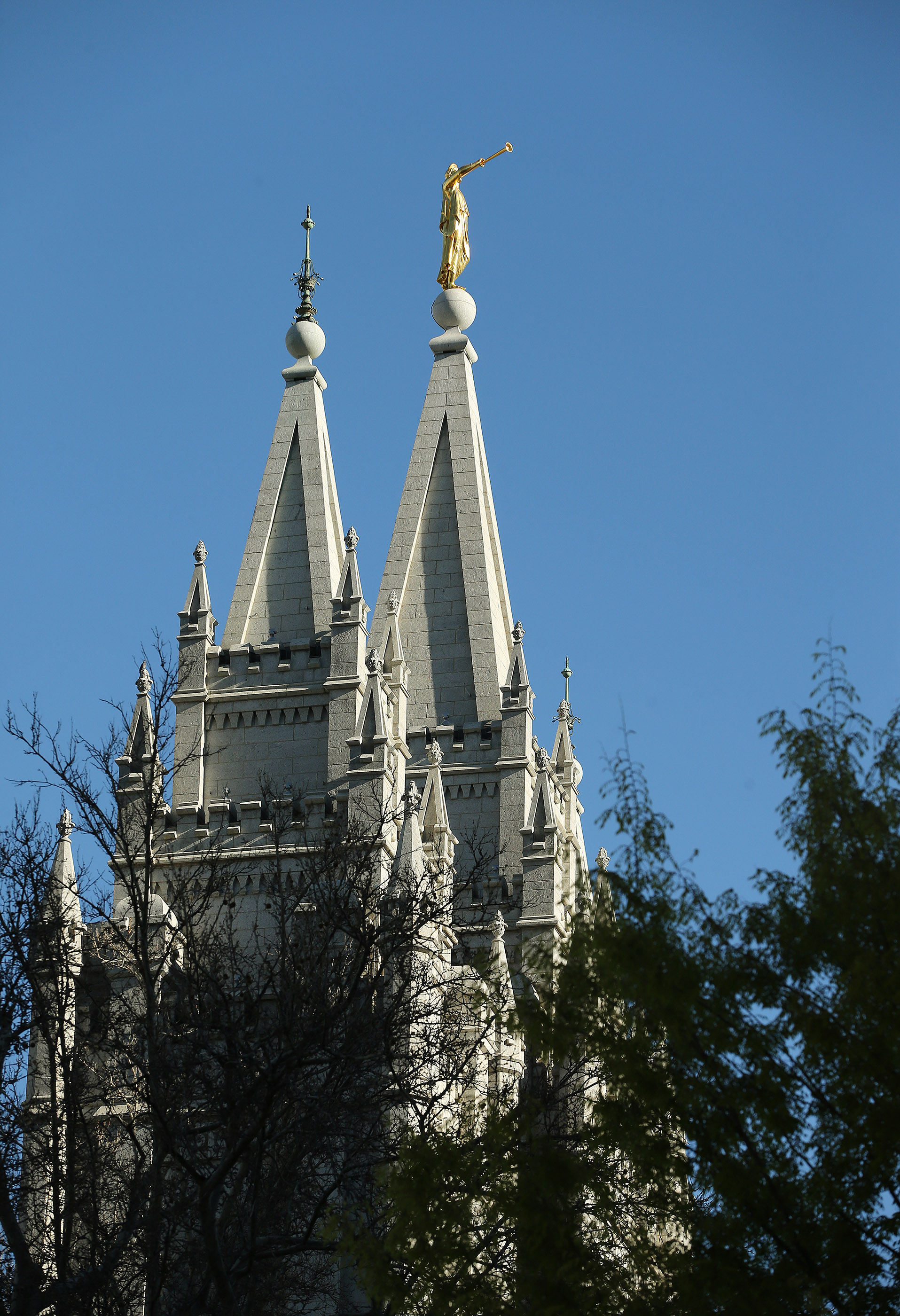The Salt Lake Temple in Salt Lake City on Friday, April 19, 2019. Officials with The Church of Jesus Christ of Latter-day Saints announced renovation plans and changes to it and the grounds.