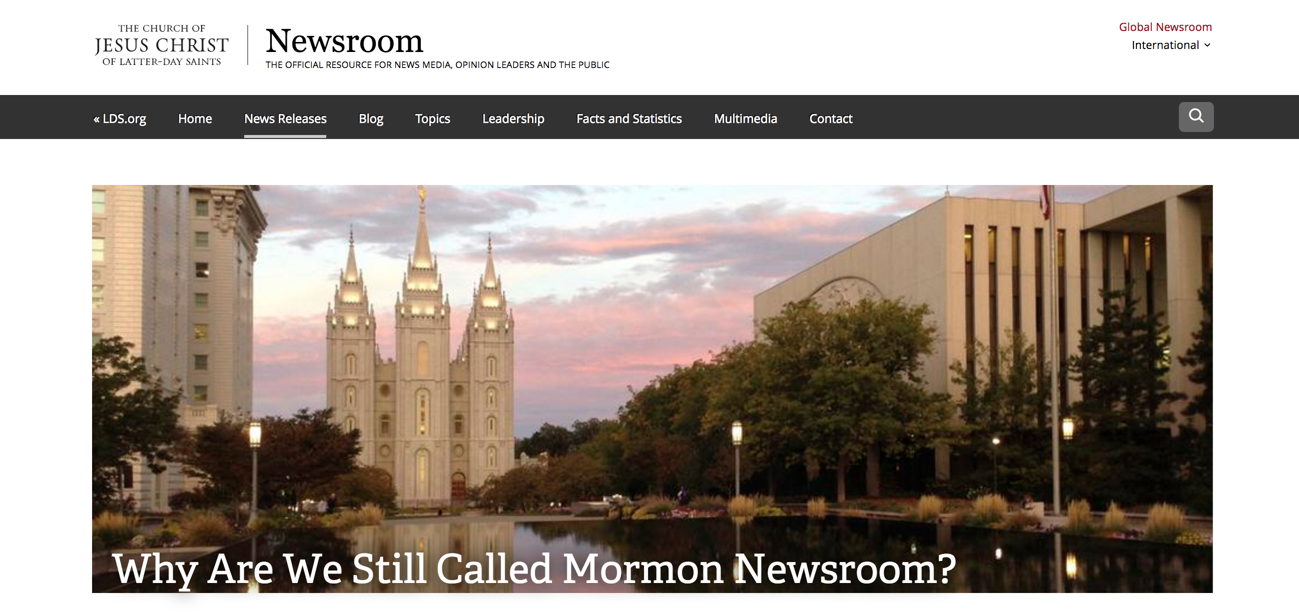Newsroom responded to President Nelson's direction on referring to The Church of Jesus Christ of Latter-day Saints by its full name.