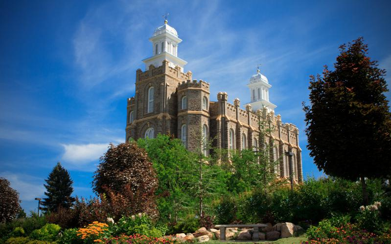 The Logan Utah Temple.