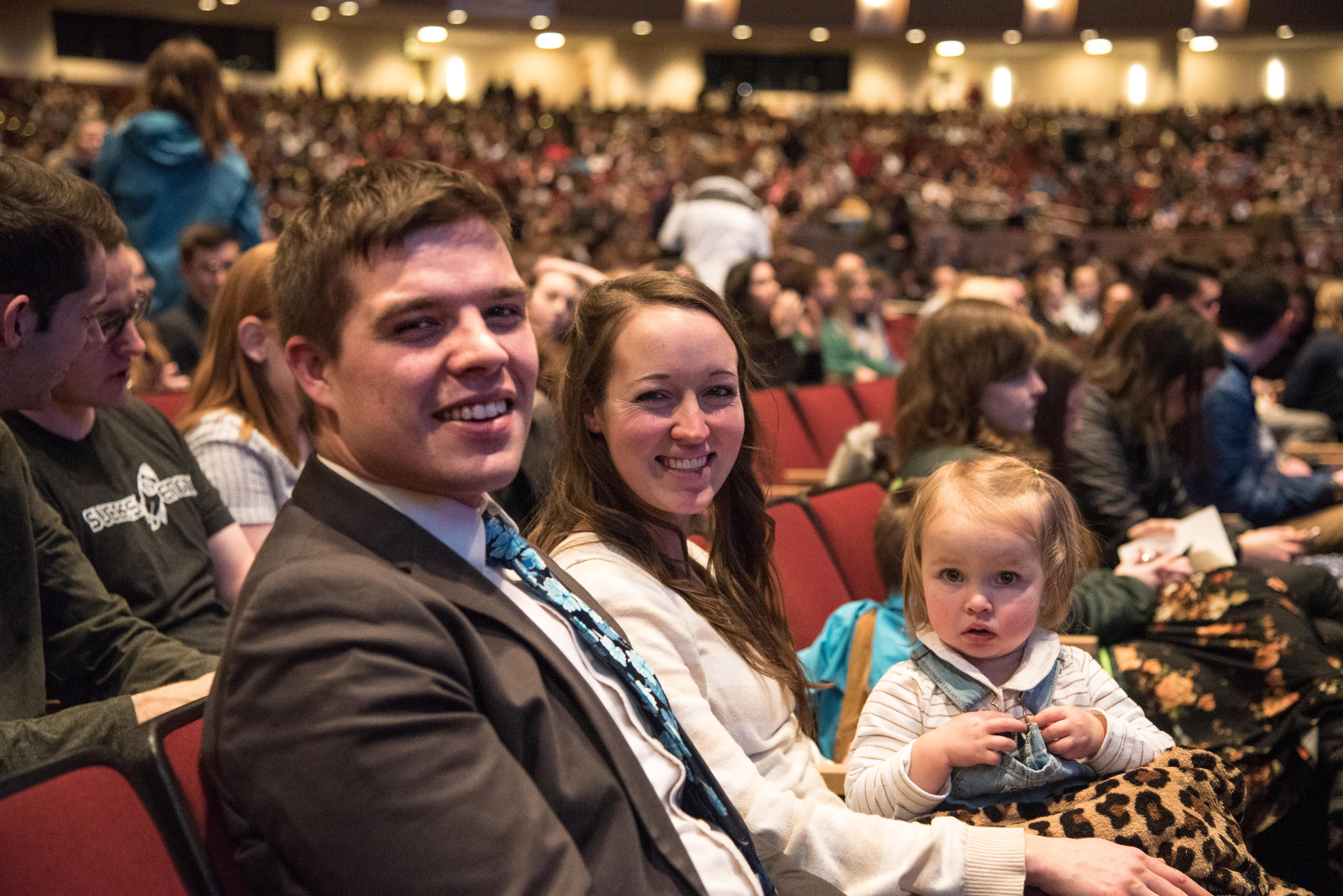Students and faculty at BYU Idaho gather on Feb. 12 to hear the words of Brian K. Ashton, second counselor in the Sunday School general presidency.