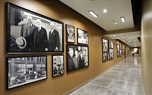 The hallway to the administrative offices of the new 570,000 square foot Utah Bishops' Central Storehouse in Salt Lake City, Thursday, Jan. 26, 2012.
