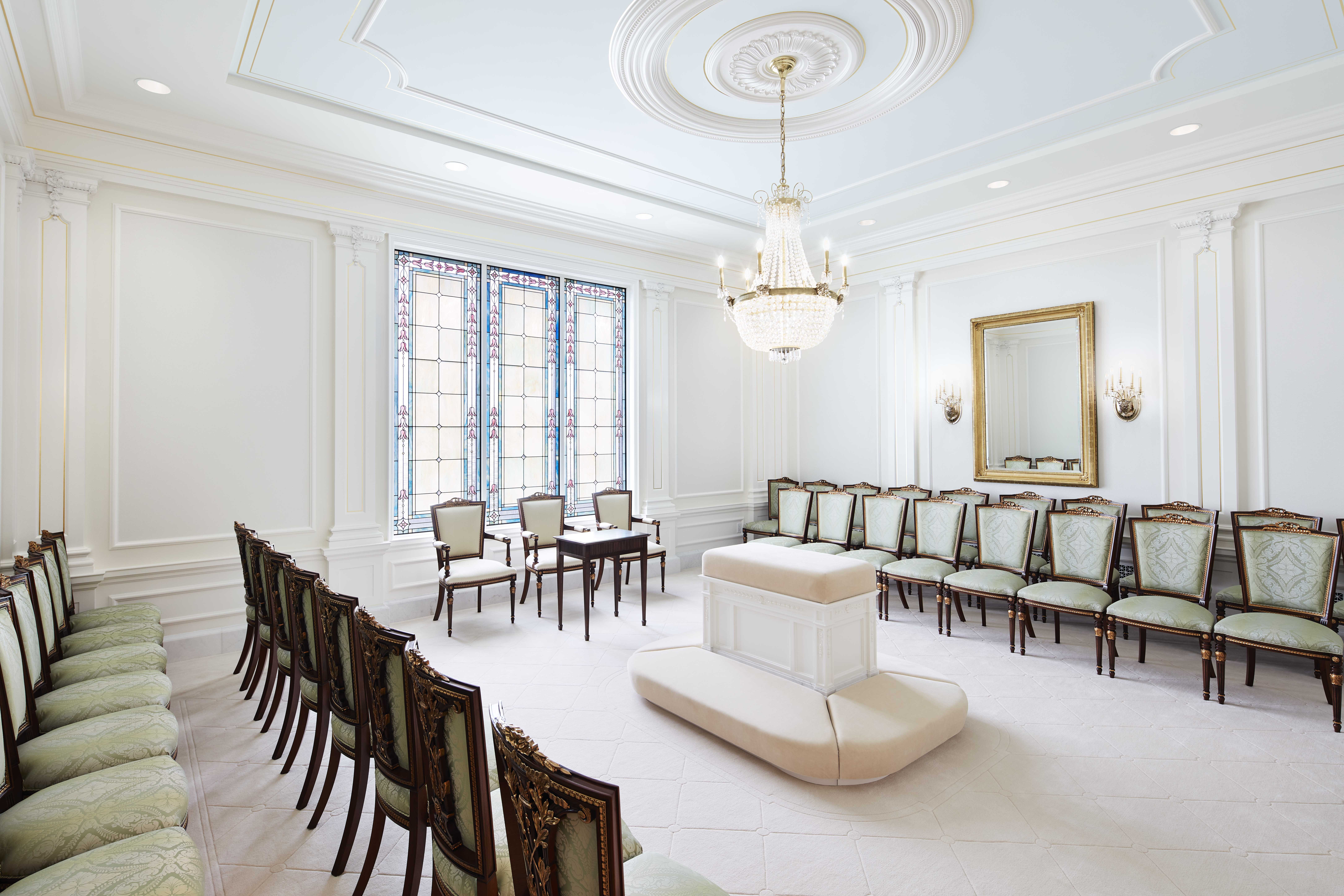 A sealing room in the Memphis Tennessee Temple.