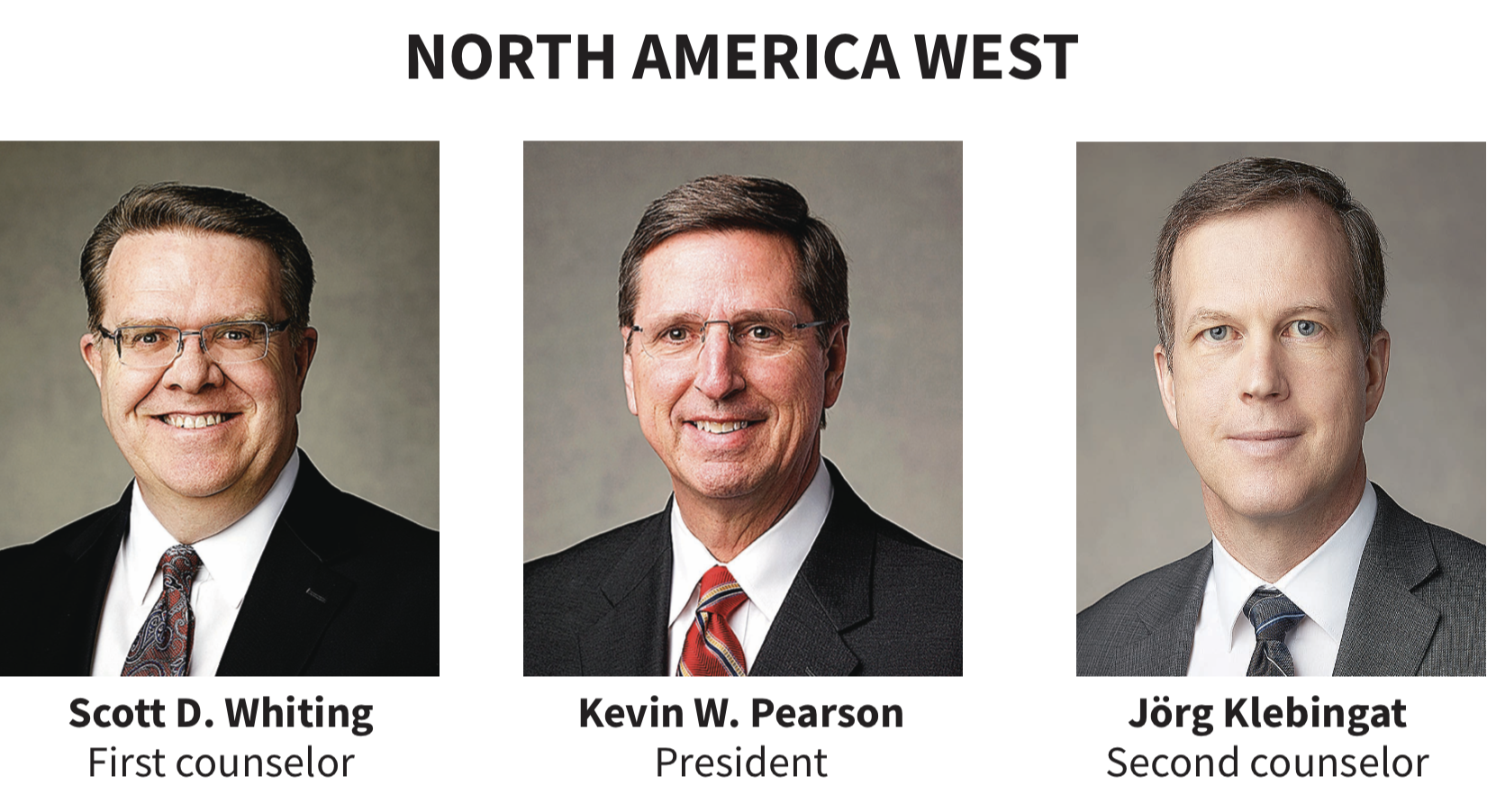 North America West area presidency
