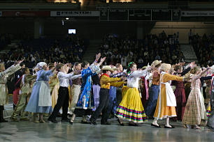 """More than 1,200 youth from across British Columbia and northern Washington State participate in the youth cultural celebration """"A Beacon to the World"""" held May 1 at the Langley Events Center."""