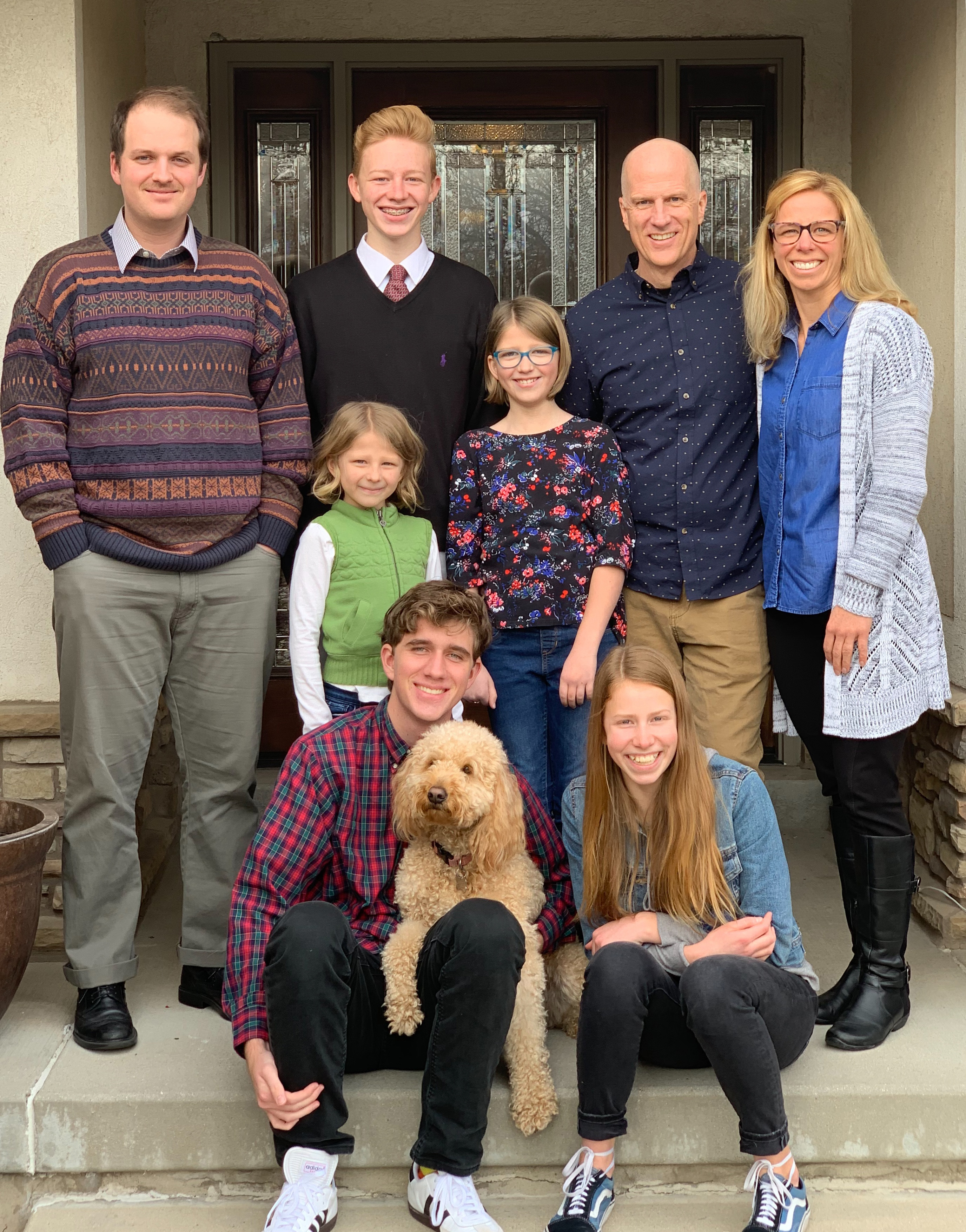 A recent family photo of the Chris and Mikkel Williams family.