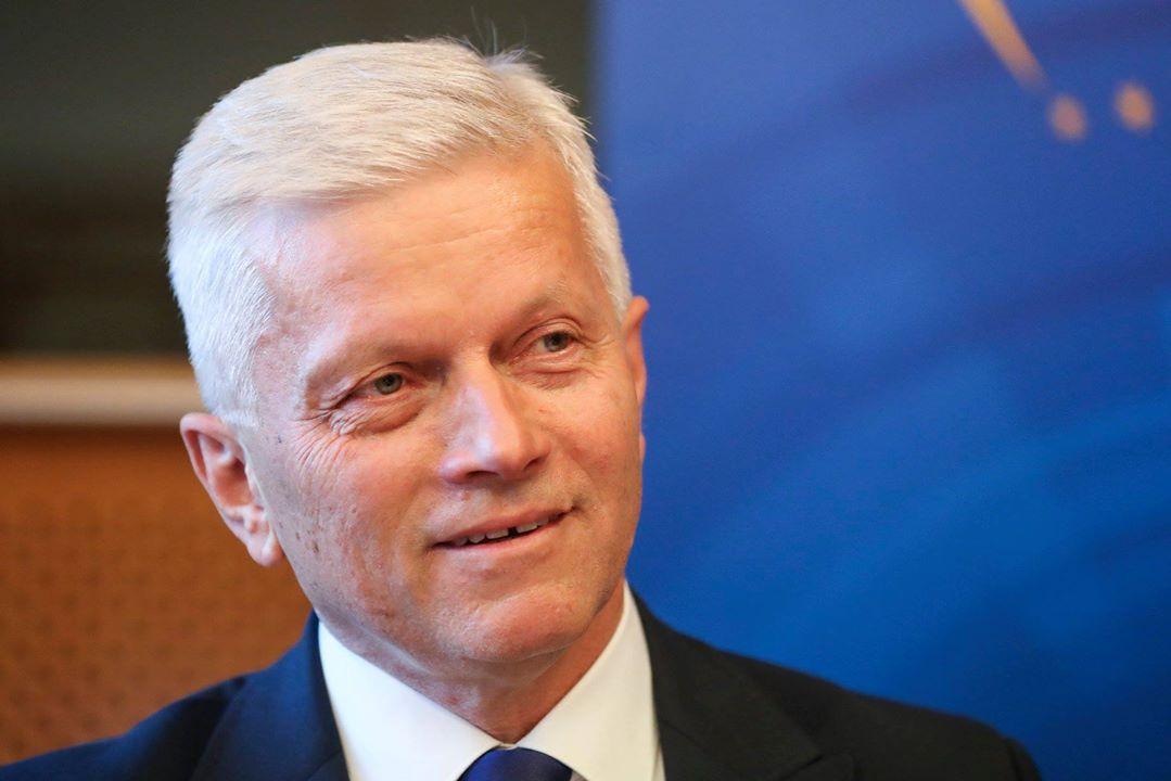 Mr. Andrzej Grzyb, Member of the European Parliament. European Union 2018.