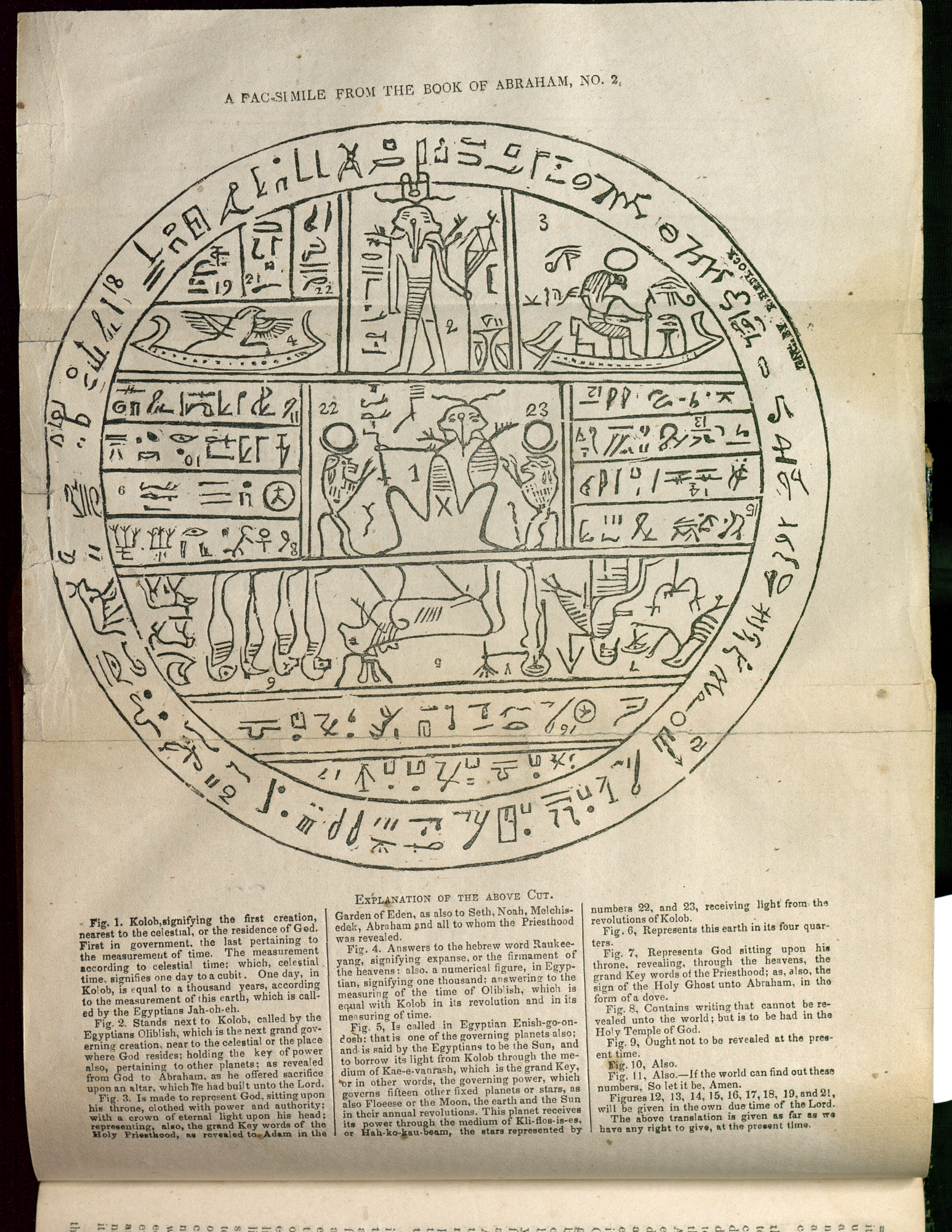 "This facsimile from the Book of Abraham is among the images found in ""Revelations and Translations: Volume 4"" of the Joseph Smith Papers."