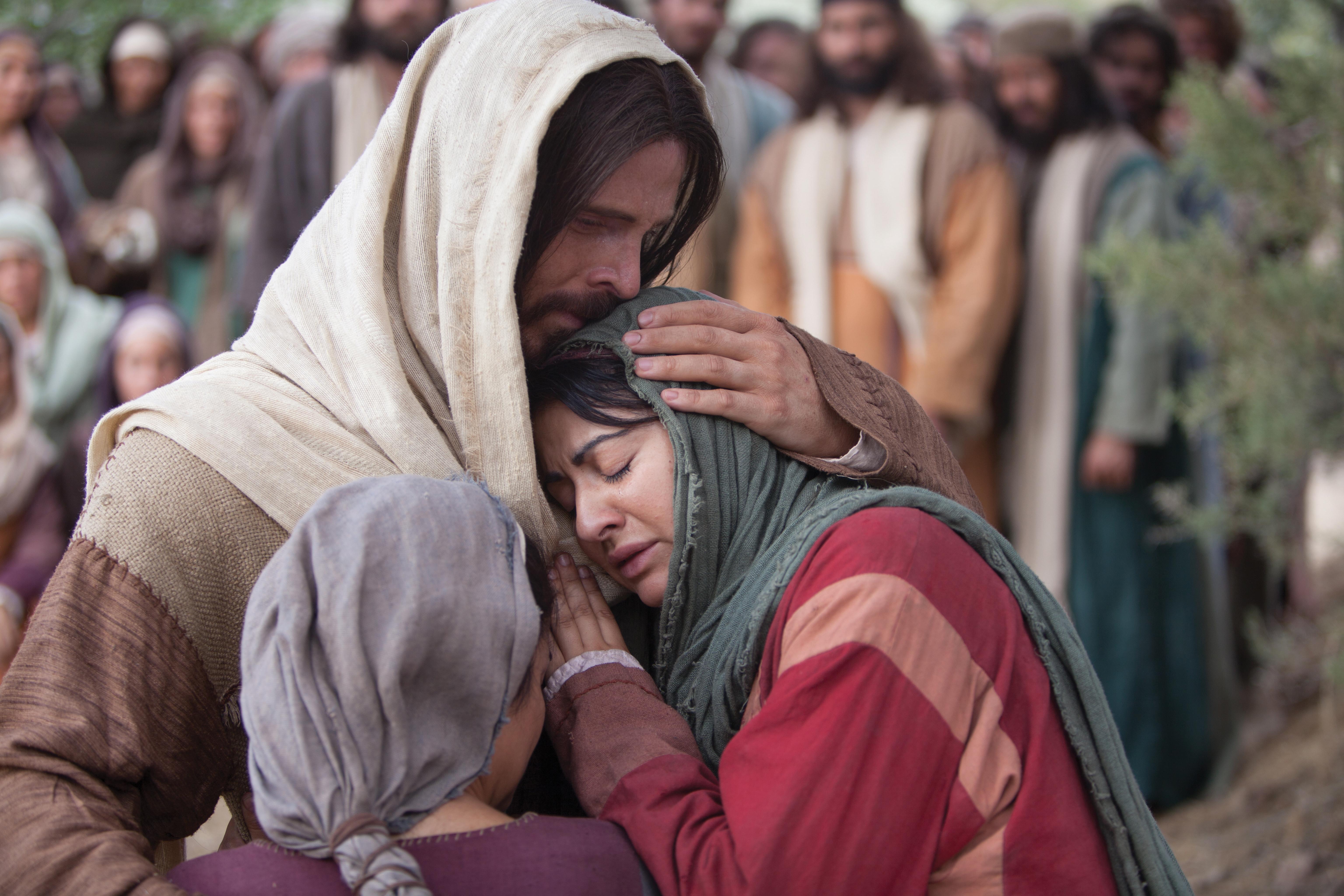 Christ comforts Mary and Martha.
