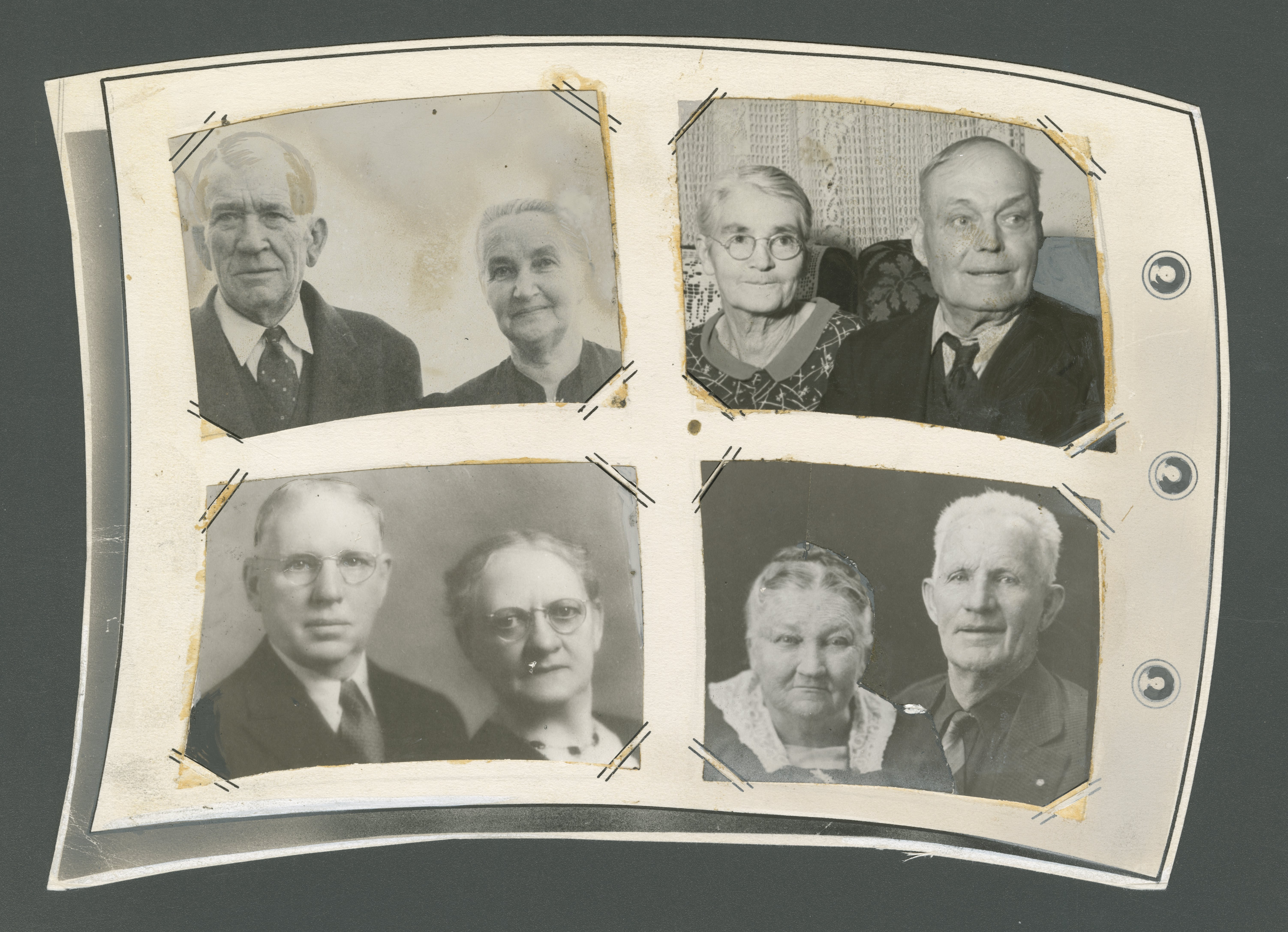 Some of the first couples married in the Salt Lake Temple in 1893 are photographed 50 years later on April 3, 1943.