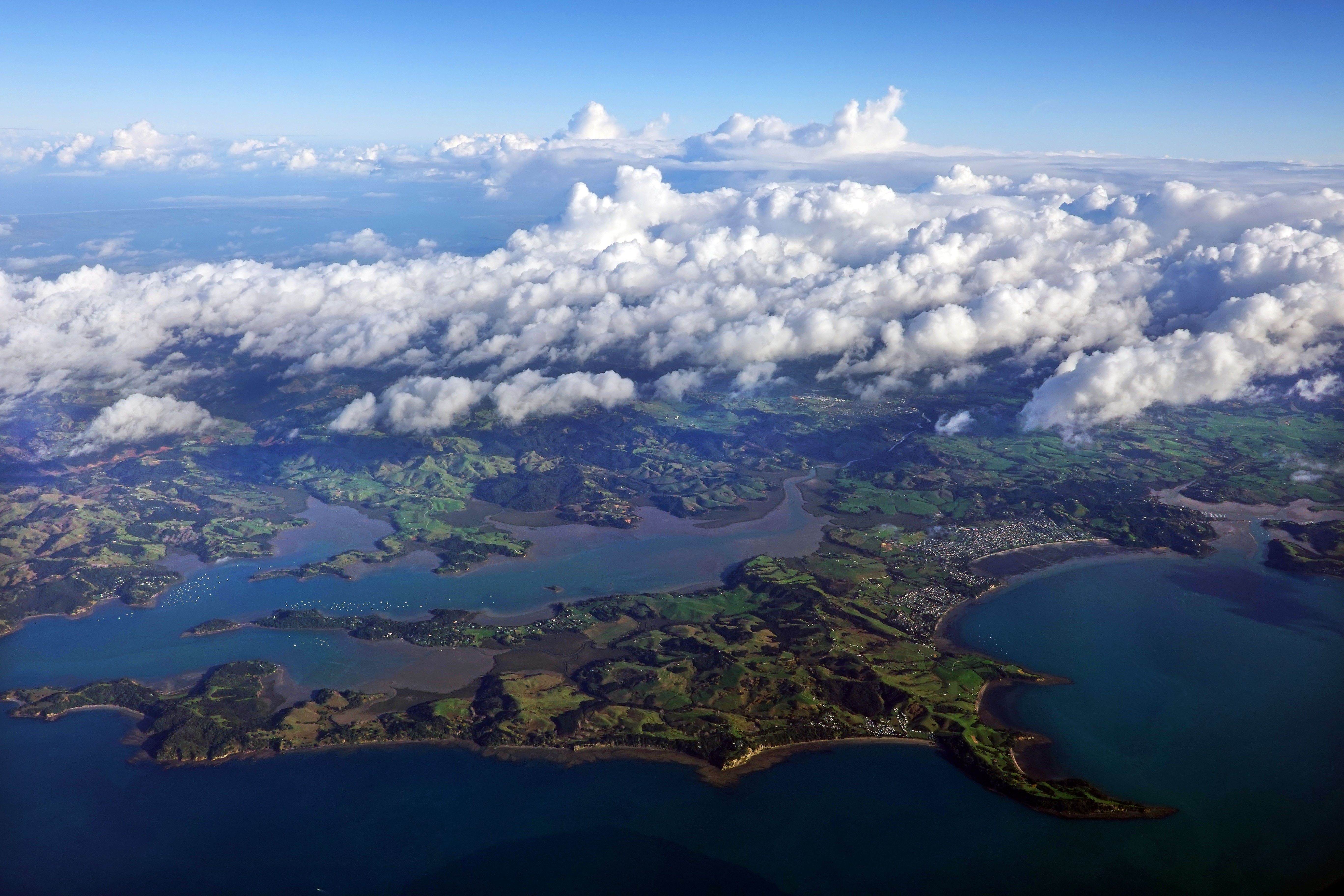 An aerial view of New Zealand on Wednesday, May 15, 2019.