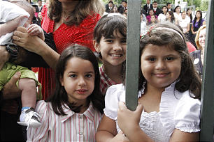 Many children attended the cornerstone ceremony of the Manaus Brazil Temple.